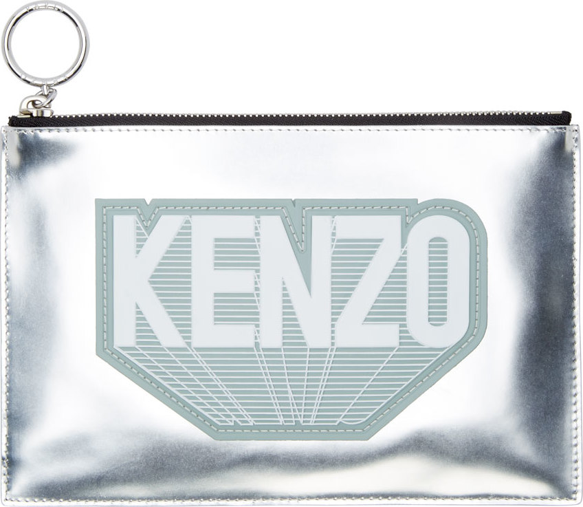 WoahStyle.com | Kenzo  Silver Flying Kenzo Luce Pouch
