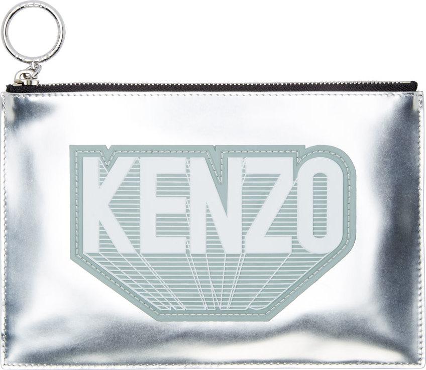 WoahStyle.com | Kenzo  Silver Flying Kenzo Luce Pouch
