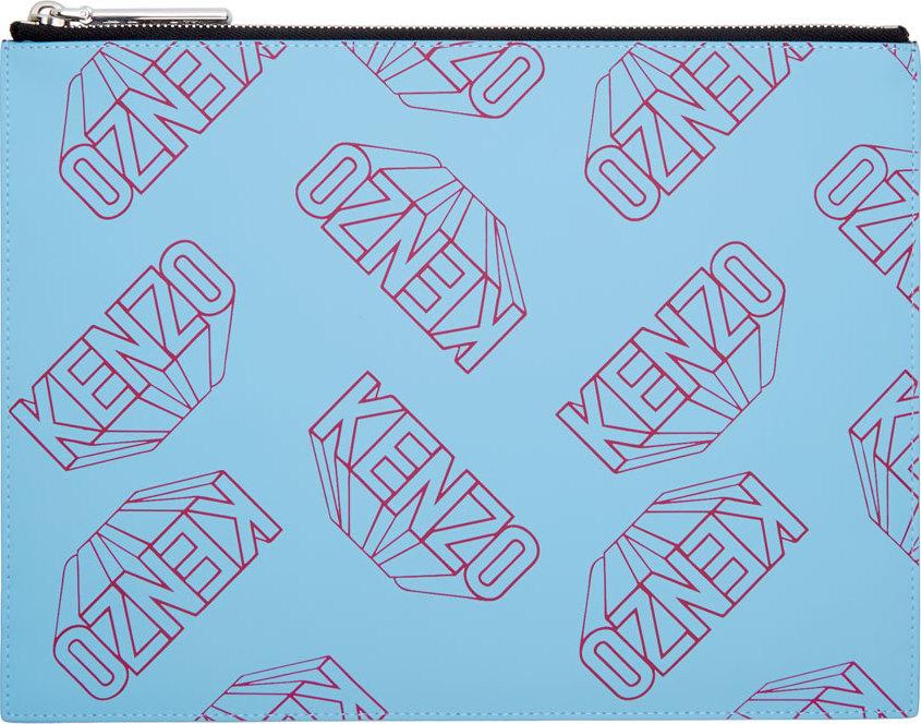 WoahStyle.com | Kenzo  Blue Flying Logo Gommato Pouch