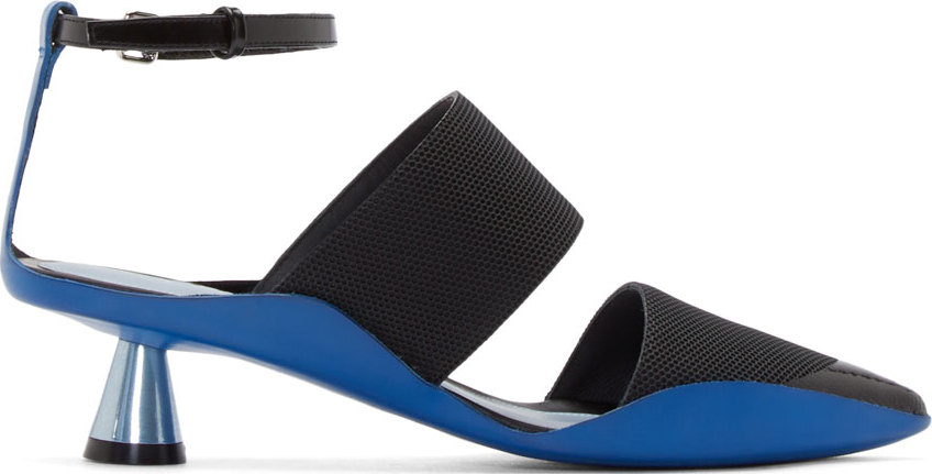 WoahStyle.com |  Kenzo  Black & Blue Honeycomb Heels