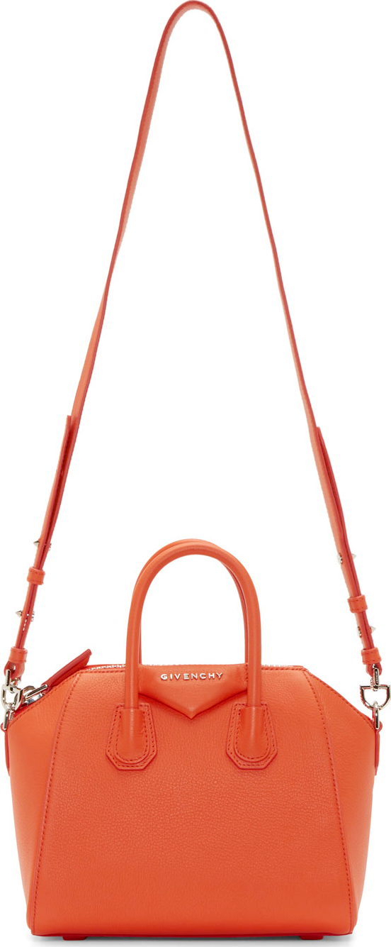 WoahStyle.com | Givenchy  Orange Mini Sugar Antigona Bag