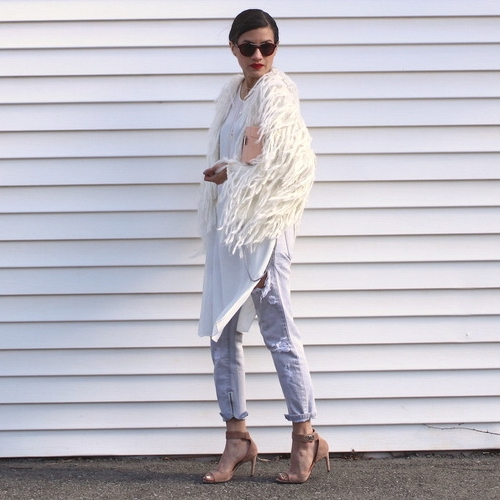 WoahStyle.com+ +Mendocino+fringe+fur+cardigan,+white+tunic+and+One+Teaspoon+jeans.+Givenchy+nude+shark+tooth+heels+and+Zara+pink+box+bag..jpeg