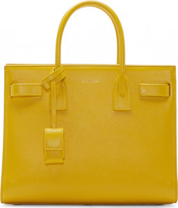 Saint Laurent  Yellow Box Laque Sac du Jour Bag