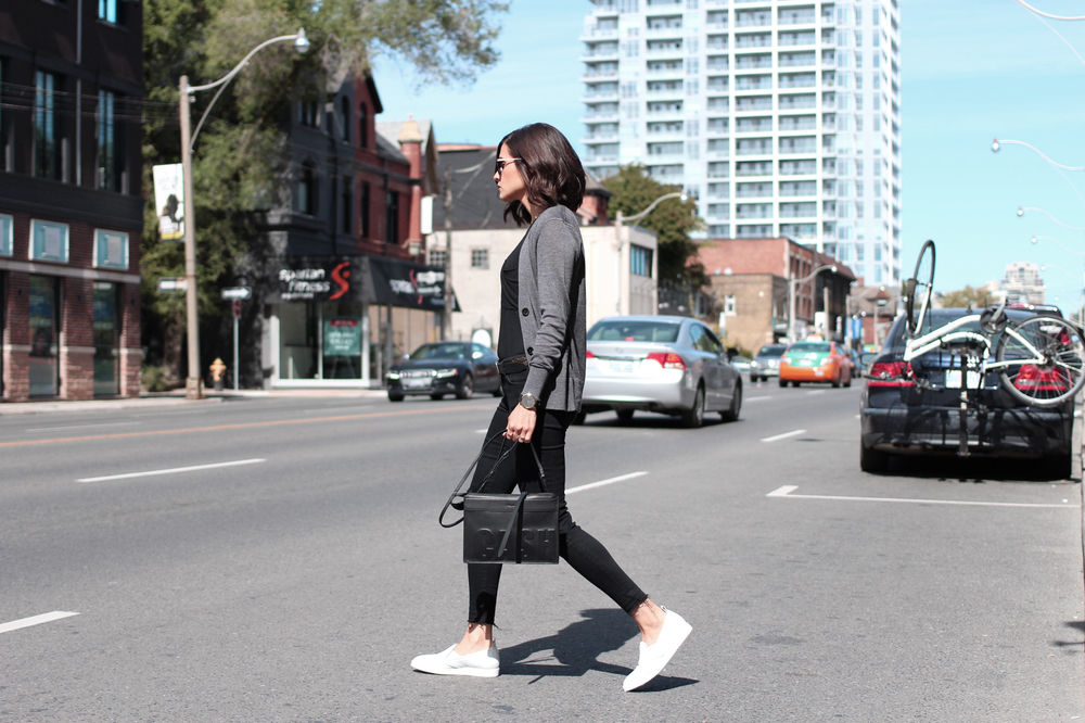 WoahStyle.com_Weekend Casaul Everlane Cardigan and Street Shoe_White Slip on Sneakers_Zara black jeans_Brandy Melville black tank_3.1 Phillip Lim Cash Only Cross body bag_StreetStyle_Luxe_0971.jpg