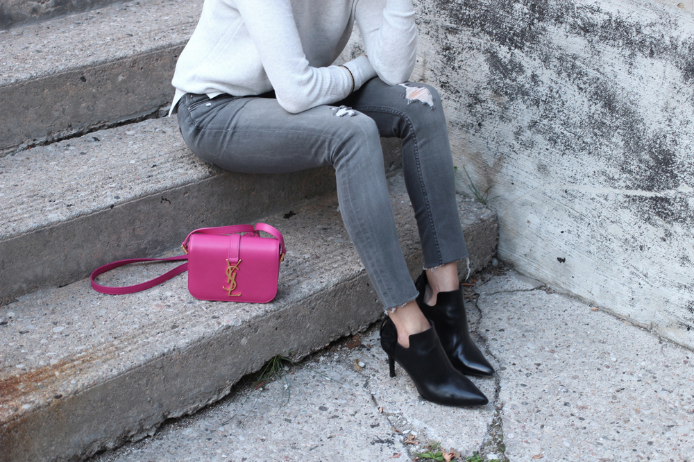 WoahStyle.com_Everlane Sweater_Zara jeans_Sandro Paris black ankle boots_Pink YSL Saint Laurent Monorgram Cross Body Bag_OOTD_Street Style_2239.jpg