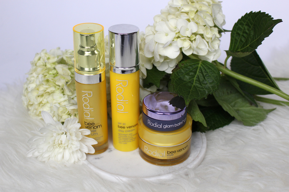 Rodial Bee Venom  Moisturizer, Serum, Eye Cream and  Stemcell Glam Lip Balm .