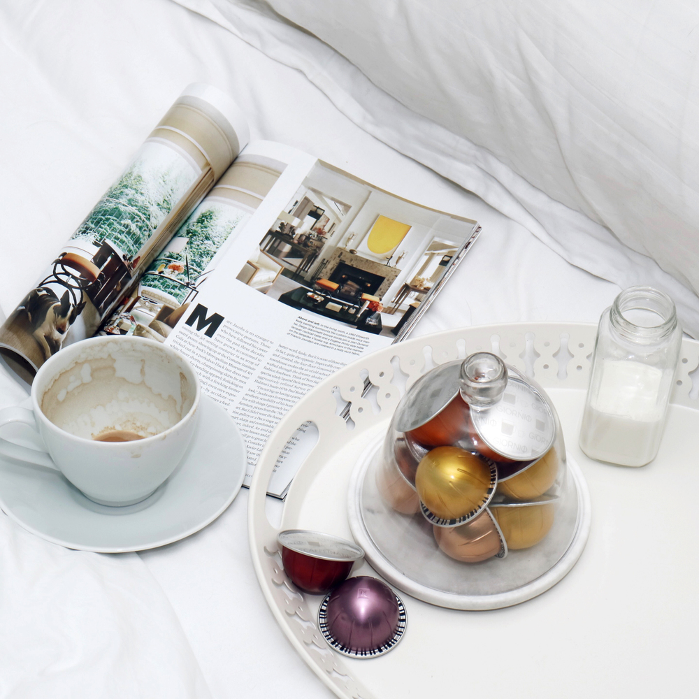 My favourite thing; curl up with a magazine and a hot cup of coffee. #AllDone