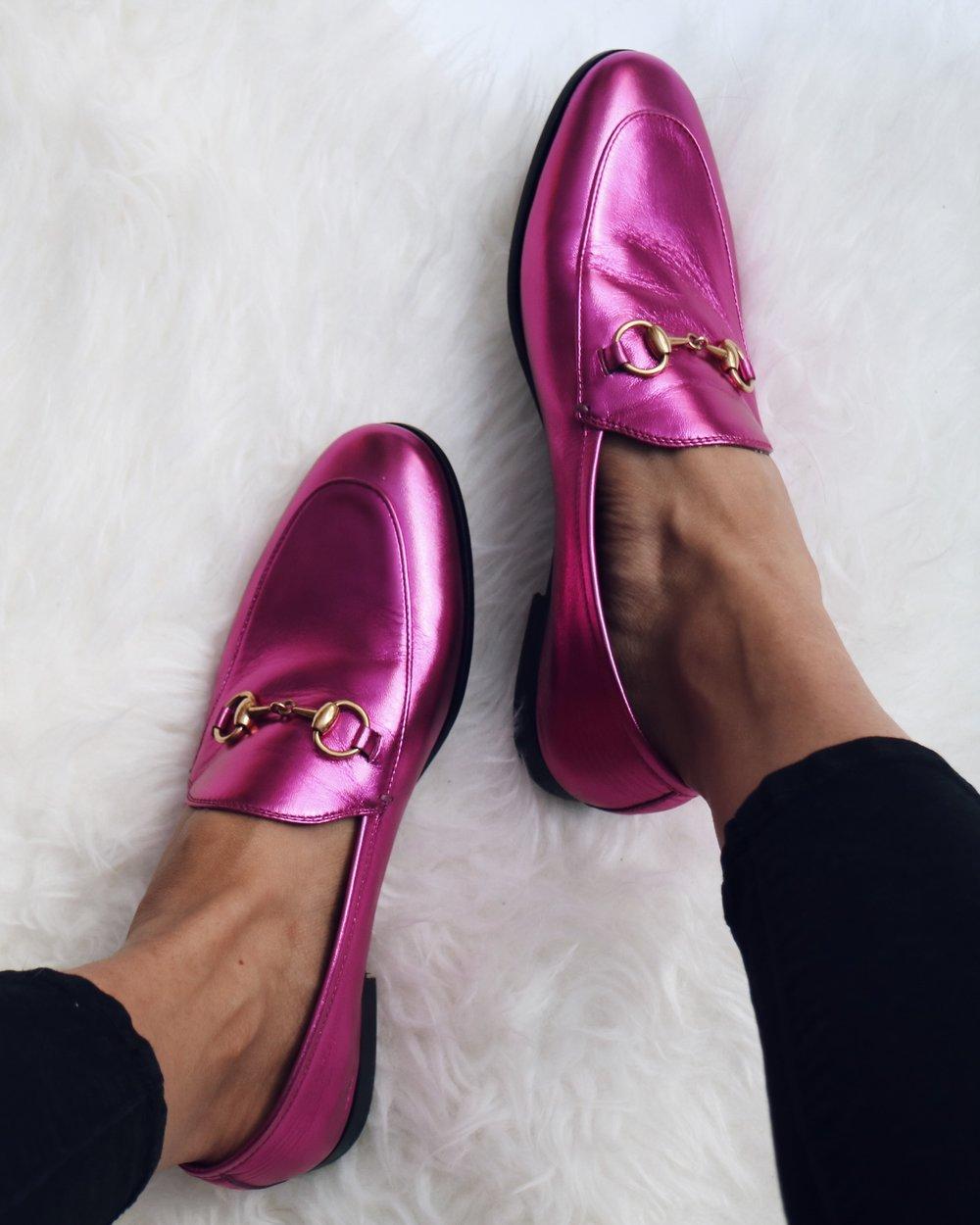 gucci loafer pink. Black Bedroom Furniture Sets. Home Design Ideas