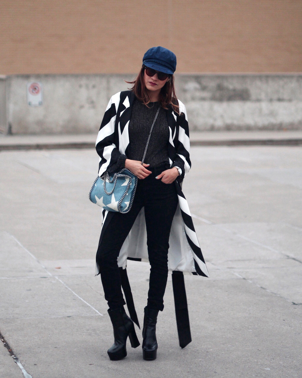 Striped Coat, Stella McCartney denim star bag and Saint Laurent Candy Platform boots-2.jpg