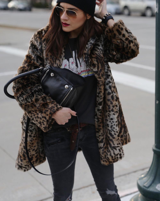 saint laurent black candy platform boots leopard print coat givenchy pandora isabel marant endless tshirt street style woahstyle.com_5701.JPG