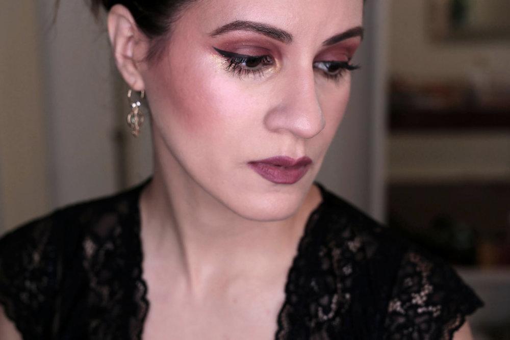 Full Face using Kat Von D Lolita - eyeshadow + blush + lipstick - swatches_0316.JPG