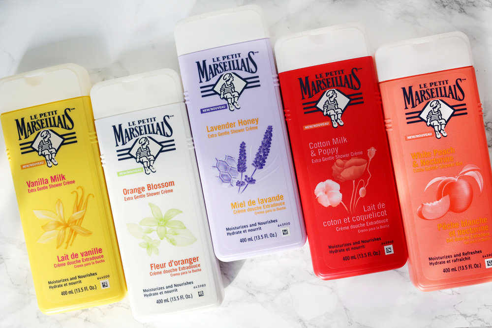Le Petit Marseillais - is a well-loved brand from France that makes the nations #1 selling body wash. The naturally scented formulas are gentle, calming and feel luxurious for a drug store product.