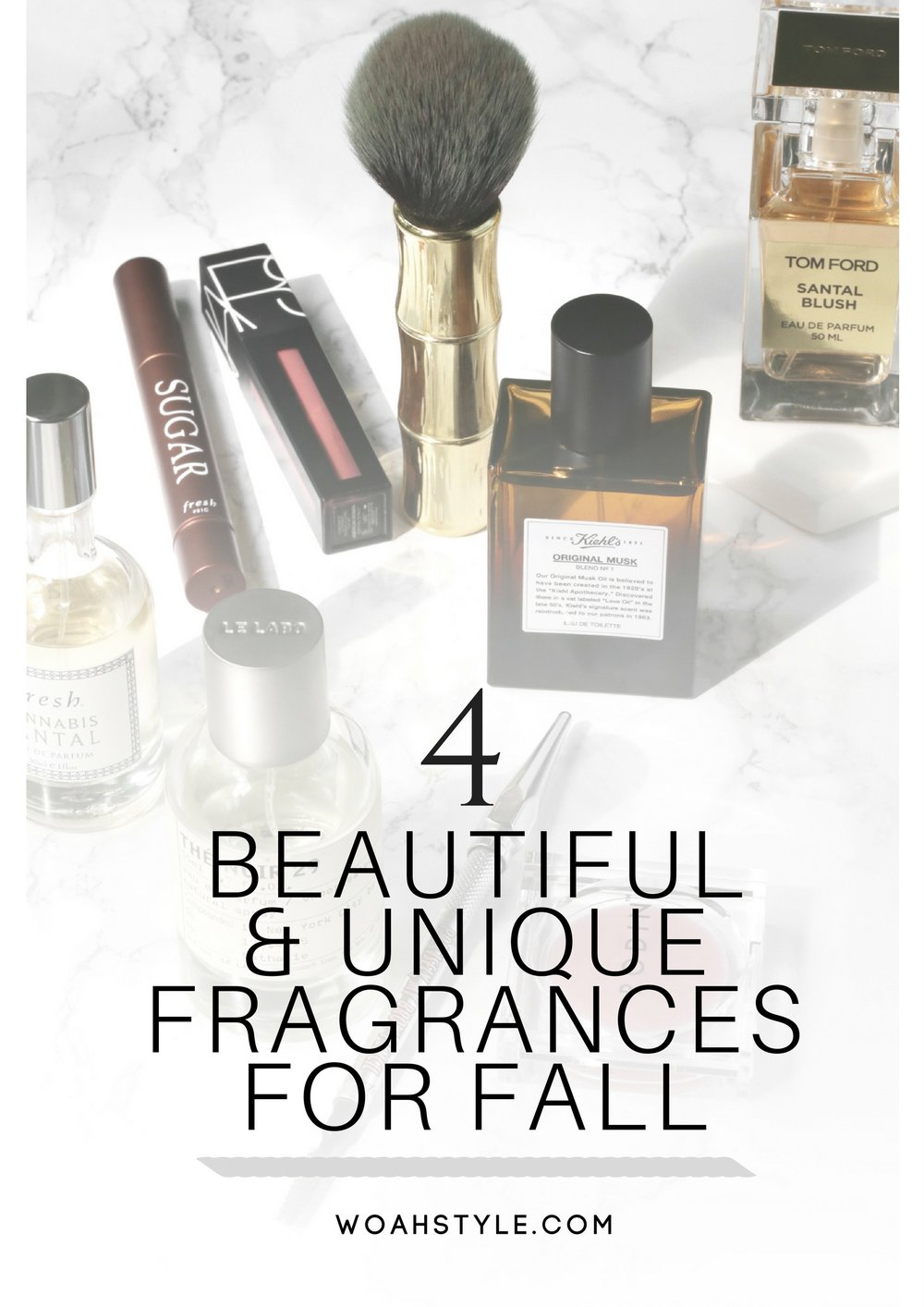 4 Beautiful & Unique Fall Fragrances - Le Labo, Kiehl's, Tom Ford Santal Blush and Fresh Cannabis Santal - pinterest.jpg
