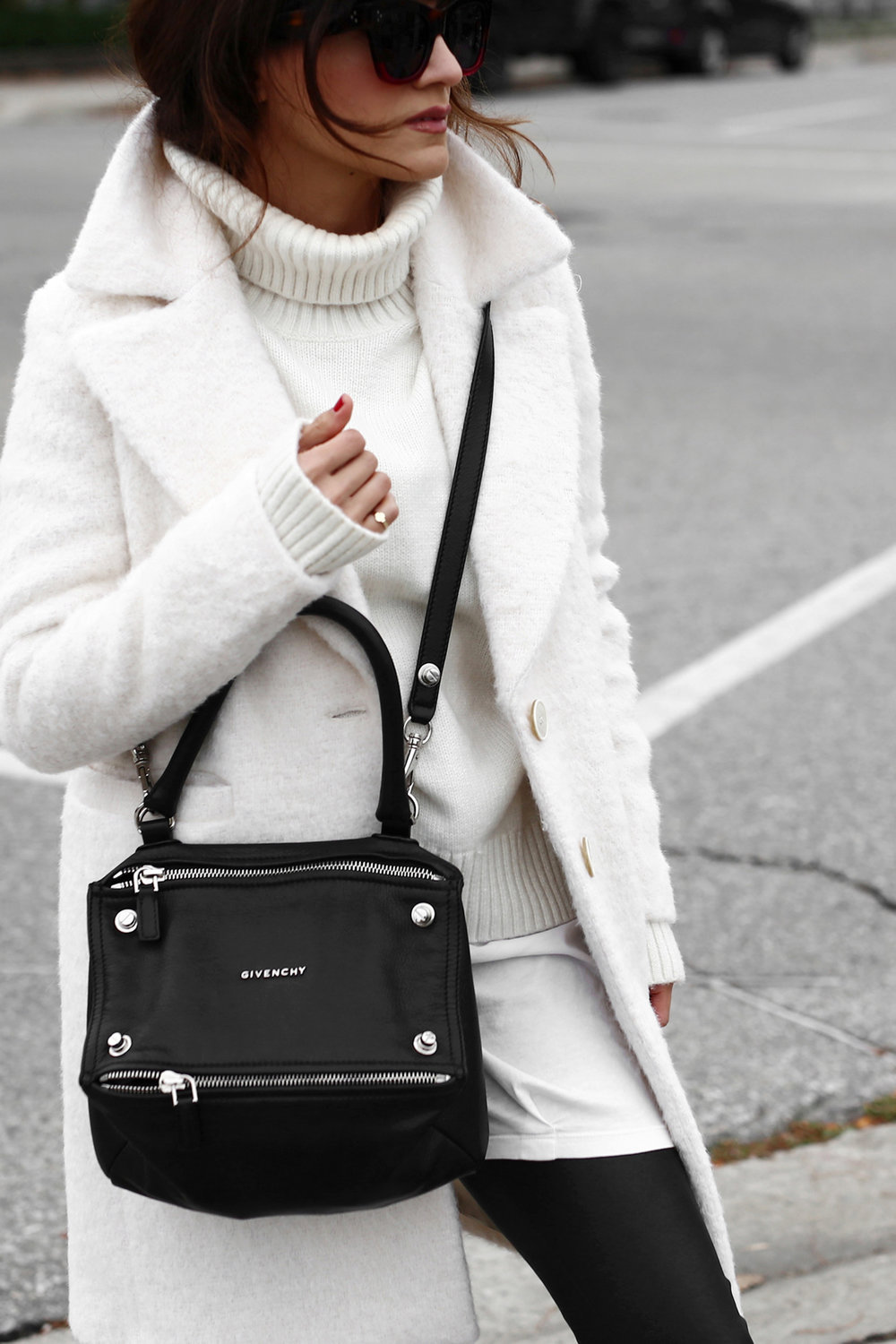 Winter White oversized knit, coat, leather leggings, Givenchy leopard print studded boots and Givenchy Pandora bag street style_2709.jpg
