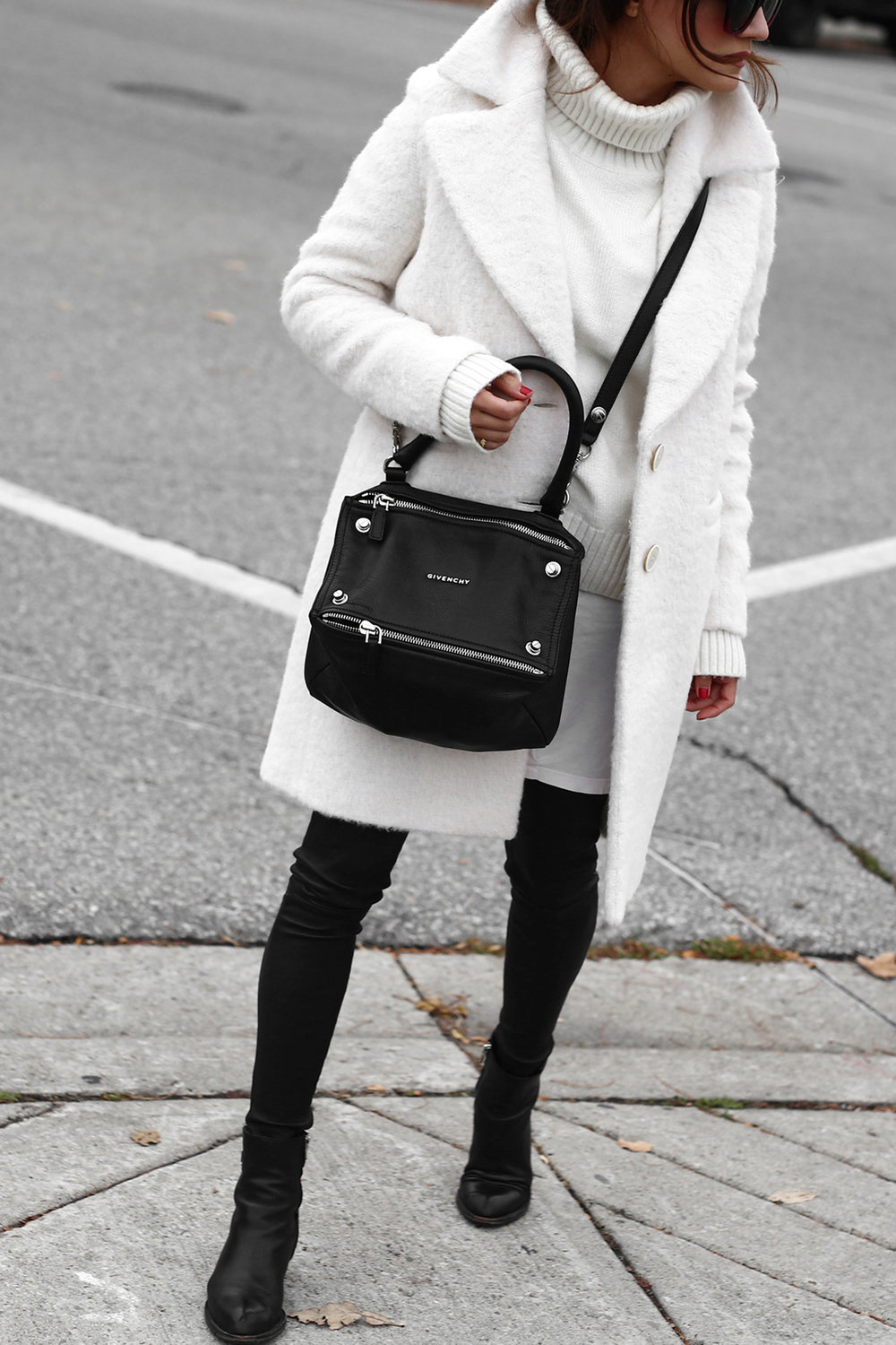 Winter White oversized knit, coat, leather leggings, Givenchy leopard print studded boots and Givenchy Pandora bag street style_2715.jpg