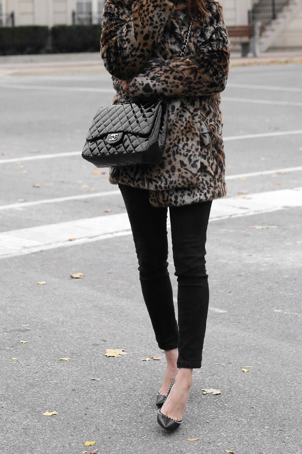 christian louboutin angelina spiked heels, chanel patent leather jumbo bag, leopard coat, kate moss inspiration street style_3032.jpg