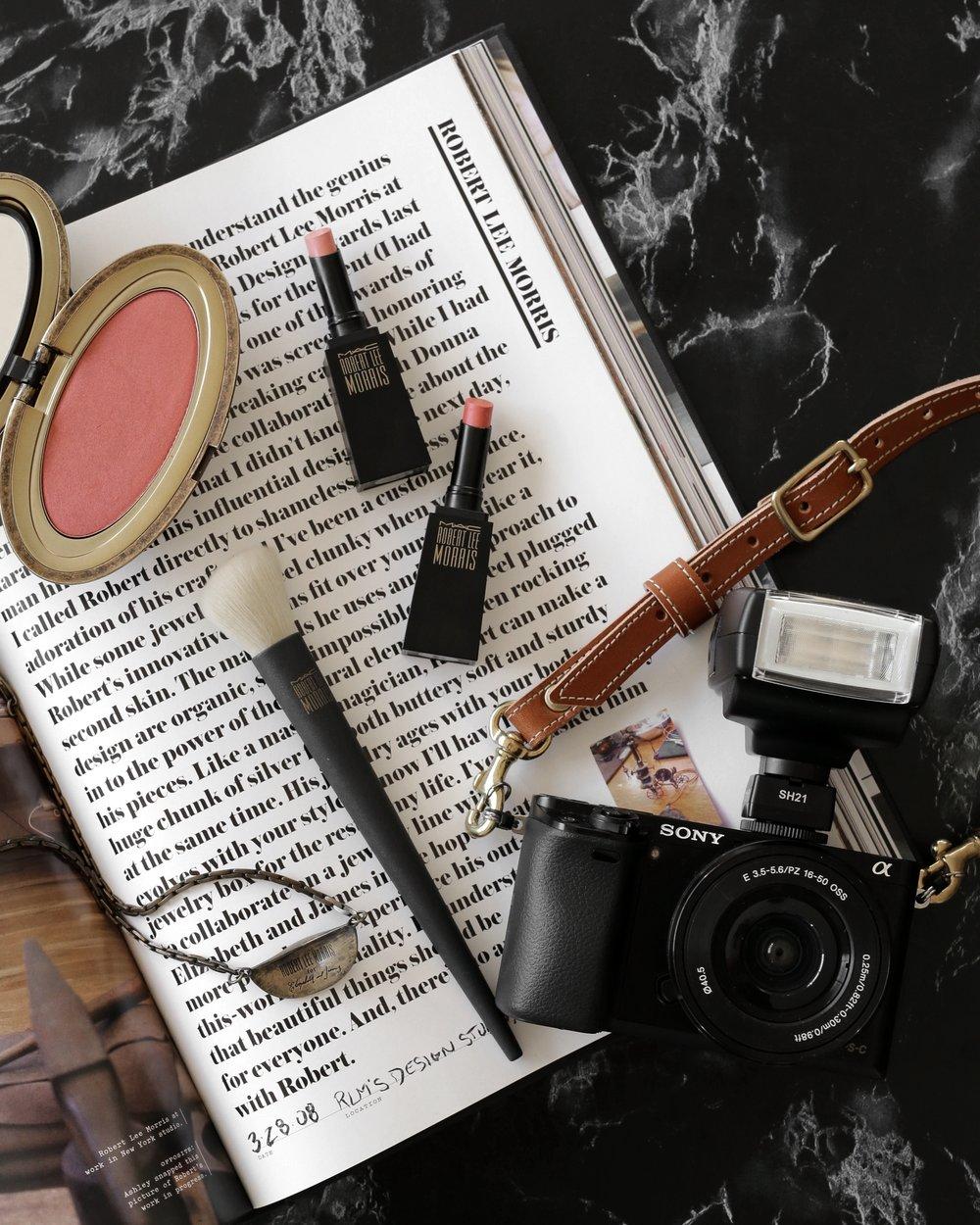 MAC x Robert Lee Morris makeup collection 2017 lipstick, blush, powder, compact, brush, beauty_5588.jpg