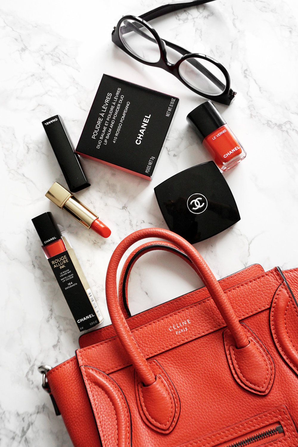 Matching my Céline Nano Luggage bag to my lipstick. If you haven't already, make sure you check out my lipstick blog- lipsick.me. It's a true labour of love!