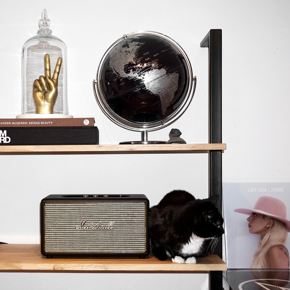 Marshall Stanmore speakers - woahstyle.com home decor eq3 climb shelf - lady gaga vinyl joanne - nathalie martin 06132.jpg