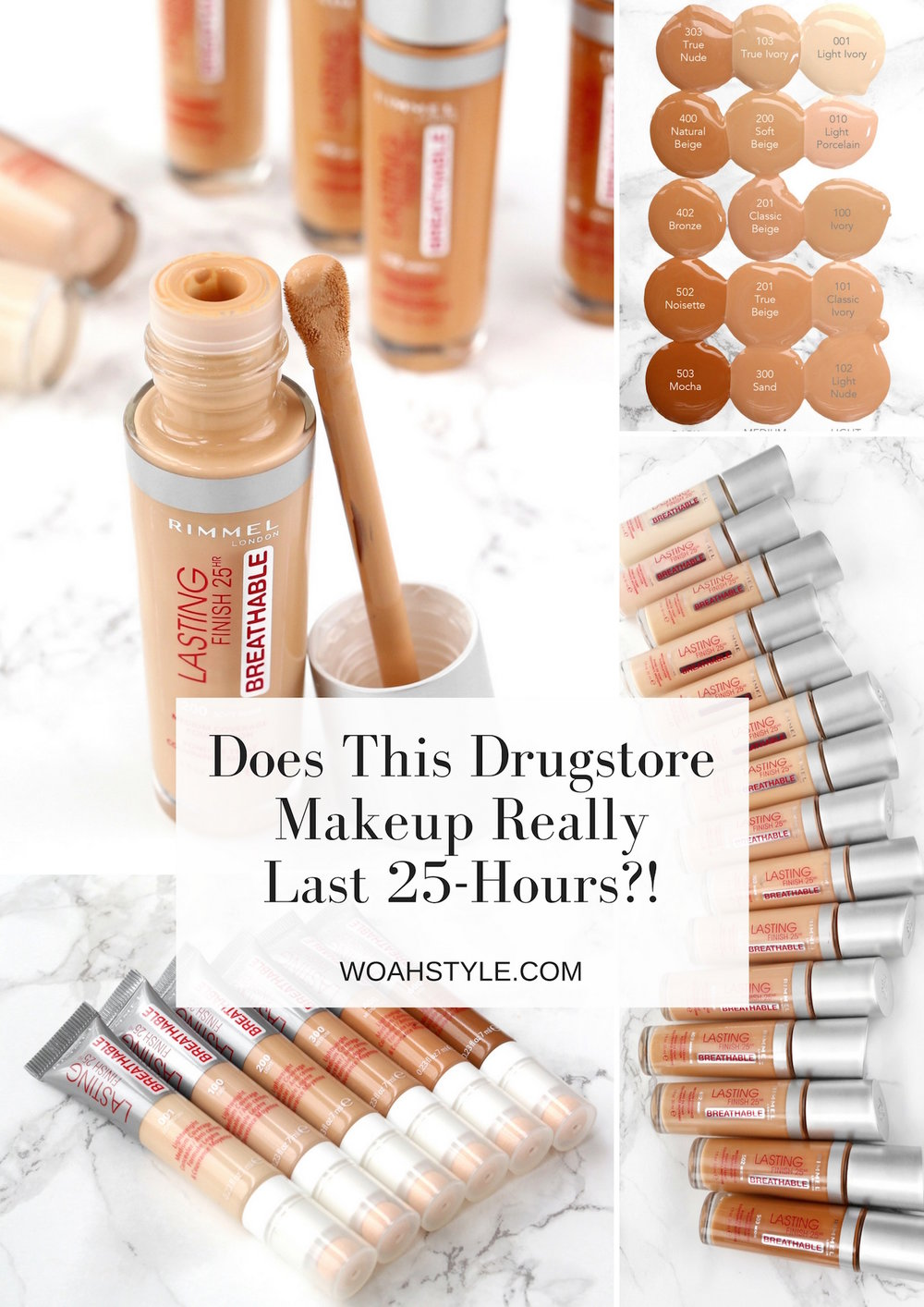Does This Drugstore makeup really last 25 hours - rimmel lasting finish breathable foundation, concealer and primer review - woahstyle.com - canadian beauty blog by nathalie martin.jpg