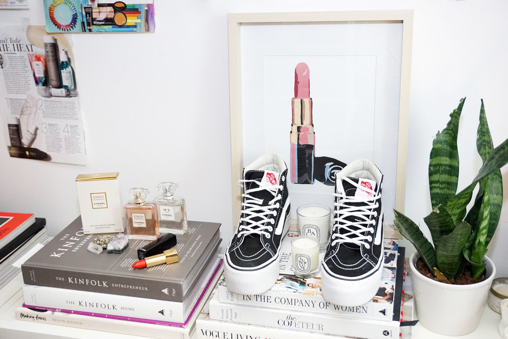 black vans platform sneakers - at home office closet home decor woahstyle.com - 07765.jpg