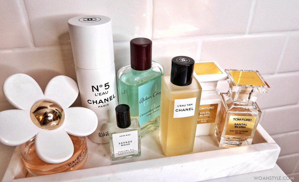 7 FABULOUS SUMMER SCENTS - Marc Jacobs Daisy Love, CHANEL No 5 L'eau, L'eau Tan, Atelier Cologne Clementine California, Tom Ford Santal Blush, Soleil Blanc, Anine Bing, Savage Rose - woahstyle.com - nathalie martin 1.jpg