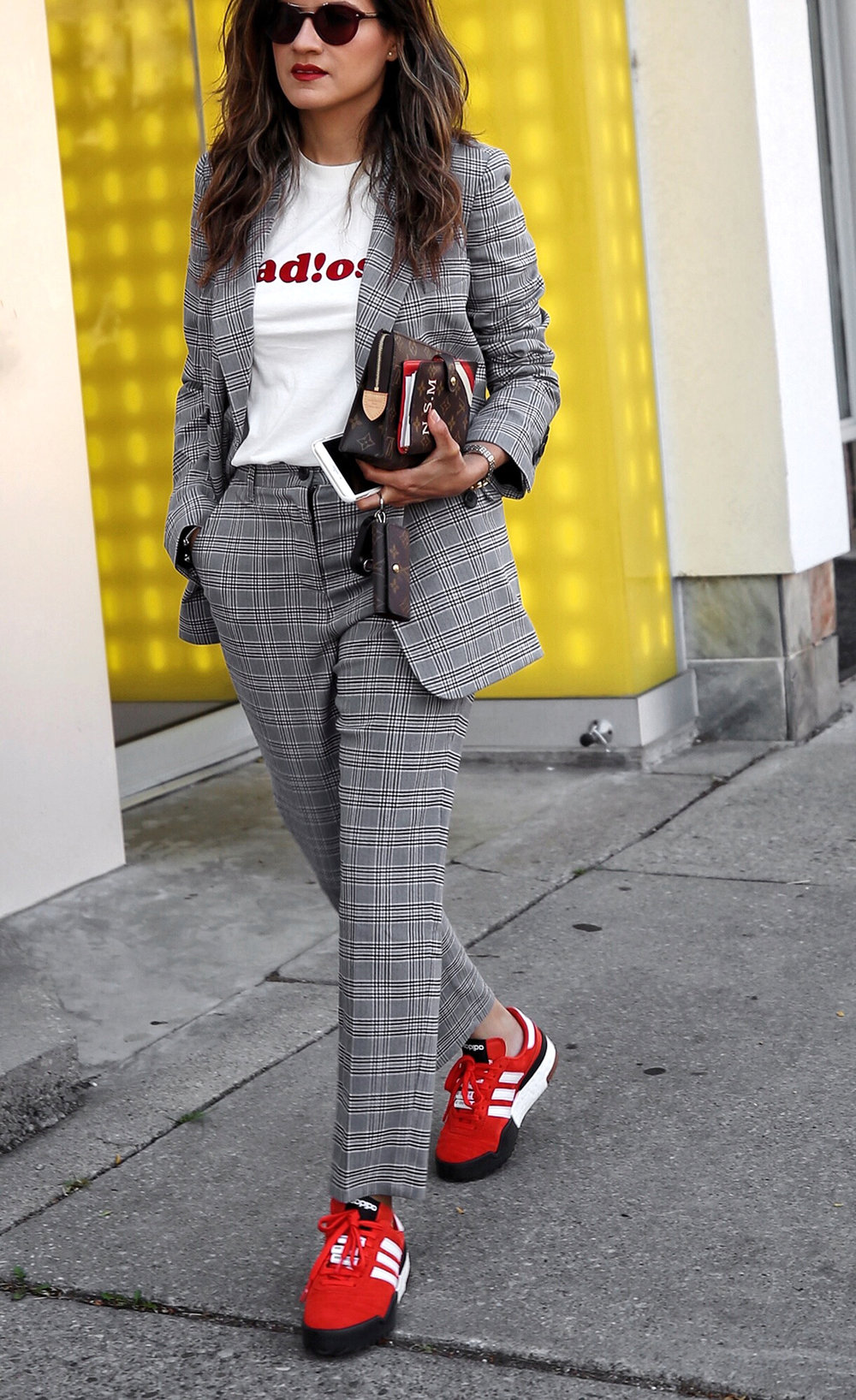 fw18 street style plaid suit women - menswear inspired - nordstrom - alexander wang Orange red AW BBall Soccer Sneakers, louis vuitton small agenda 6.JPG