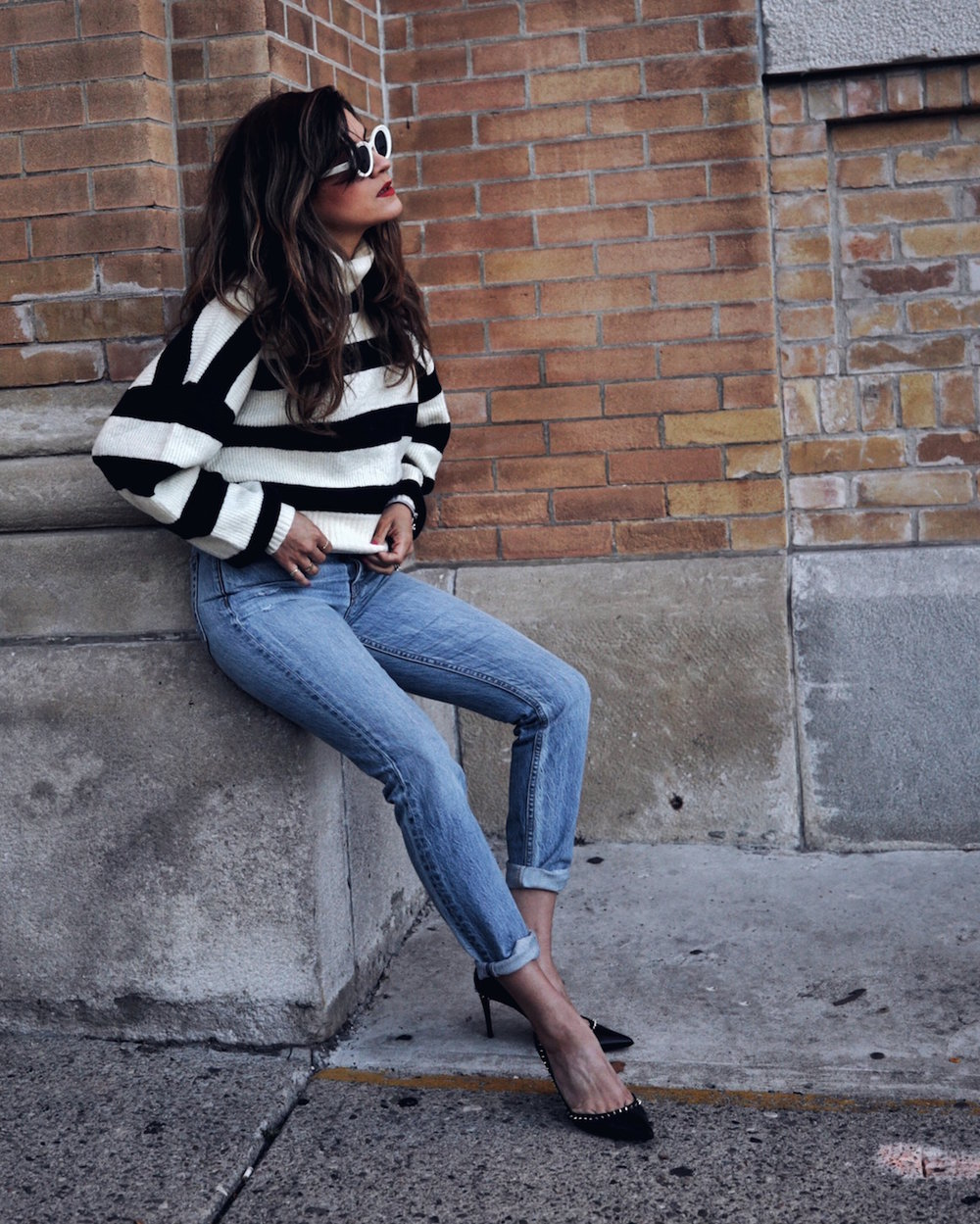 follow me on IG @_nathaliemartin - REVOLVE striped sweater, GRLFRND Karoline jeans, Christian Louboutin Anjalina shoes - woahstyle.com 2.JPG