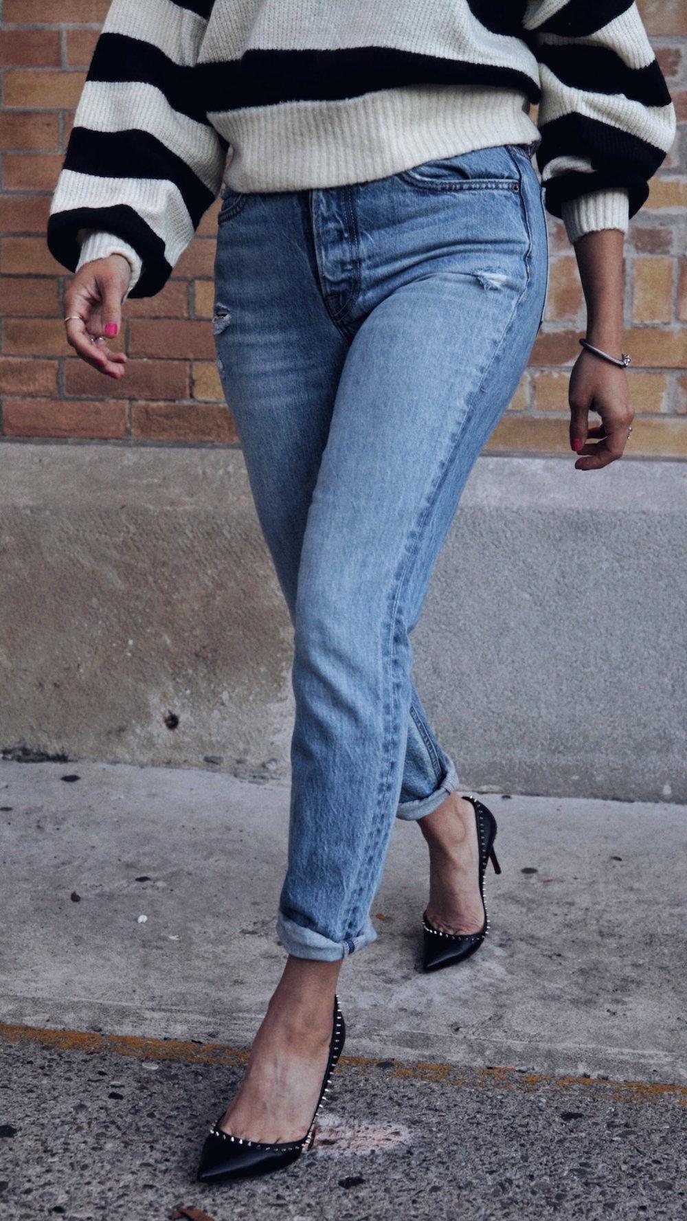 follow me on IG @_nathaliemartin - REVOLVE striped sweater, GRLFRND Karoline jeans, Christian Louboutin Anjalina shoes - woahstyle.com 8.JPG