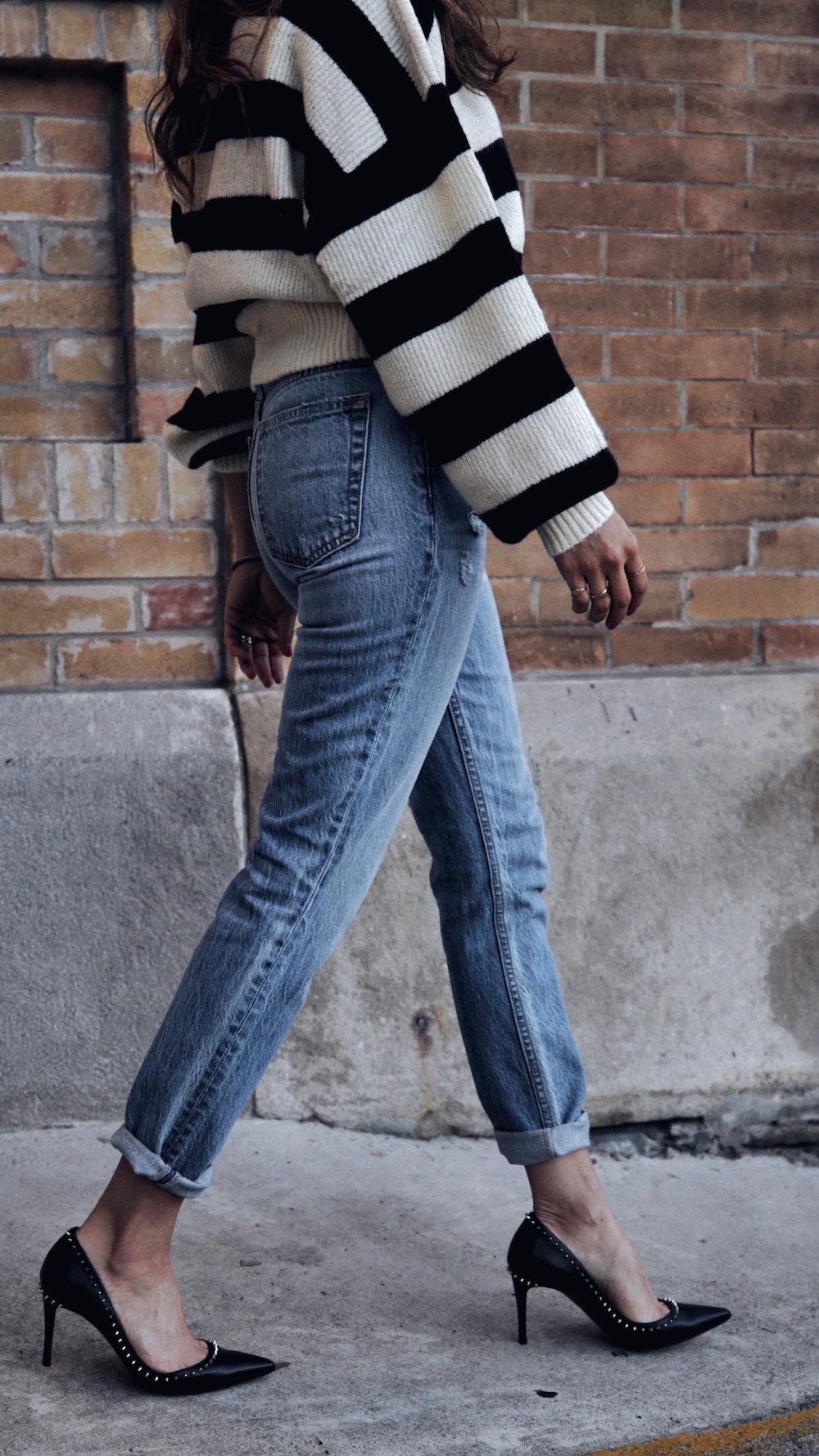 follow me on IG @_nathaliemartin - REVOLVE striped sweater, GRLFRND Karoline jeans, Christian Louboutin Anjalina shoes - woahstyle.com 5.JPG