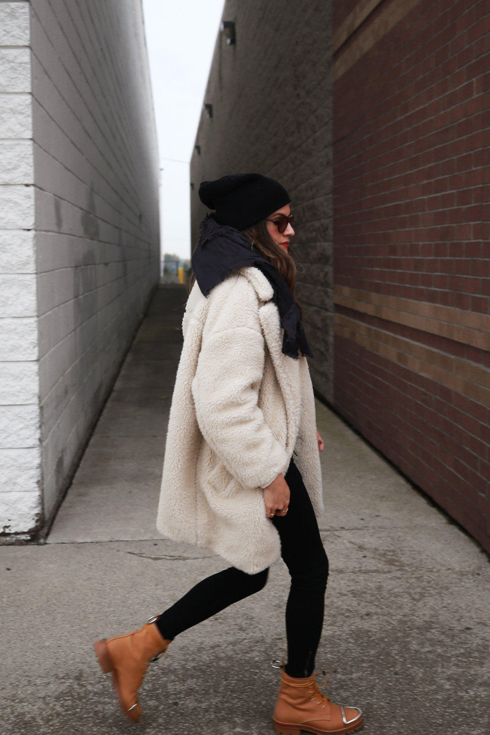Best Conditioner for Winter Hair - Teddy Bear coat, Alexander Wang boots, Toronto street style - photos by Geoff Martin for woahstyle.com by Nathalie Martin_2598.jpg