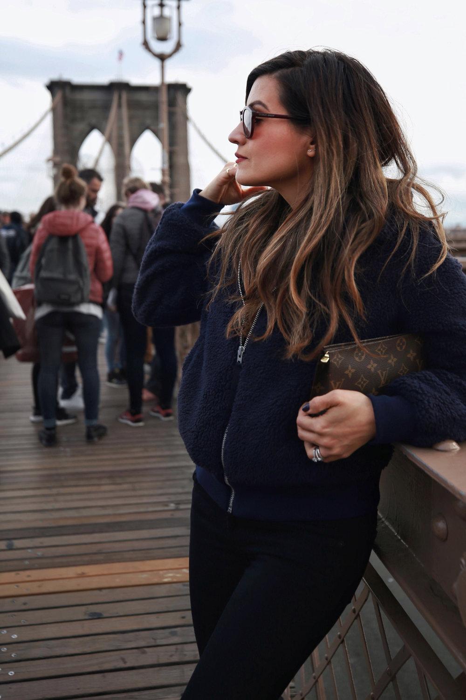 Teddy Bear jacket, Givenchy leopard pring studded boots, New York Street style, Nathalie Martin, woahstyle.com 01.jpg