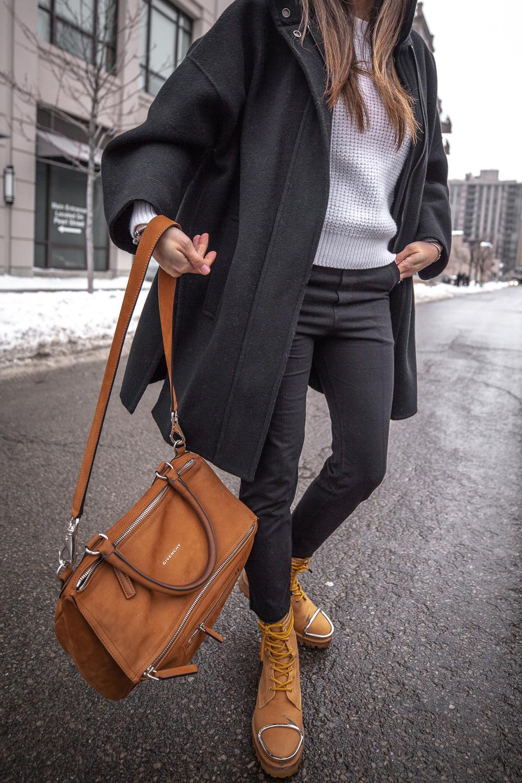 nathalie martin - vince wool coat, acne studios white sweater, pansy beanie, frank and eileen trouser joggers, alexander wang lyndon boots, givenchy medium pandora, bonlook jerry glasses, pinterest @woahstyle_7290.jpg