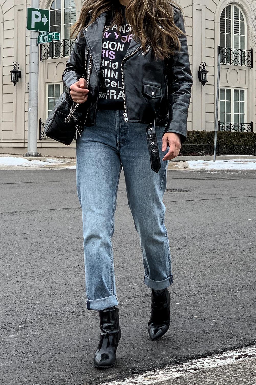 nathalie martin, anine bing city love sweatshirt, iro paris patent leather moto jacket, aritzia ex boyfriend jeans, phillip lim patent leather ankle boots, saint laurent lou lou bowling bag, street style, woahstyle.com_5236.jpg