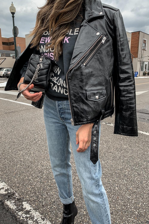 nathalie martin, anine bing city love sweatshirt, iro paris patent leather moto jacket, aritzia ex boyfriend jeans, phillip lim patent leather ankle boots, saint laurent lou lou bowling bag, street style, woahstyle.com_5245-2.jpg