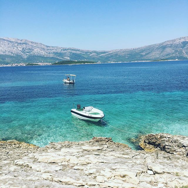 Island hopping with the squad - great end to a trip away in Croatia #island #sea #crystal #boats #summer #travel