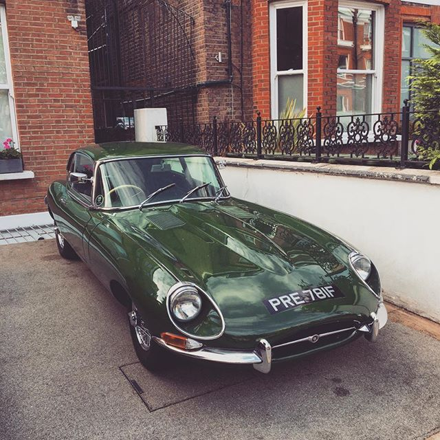 Spotted the absolute dream car this morning en route to work #jaguar #etype #style #british #classic #car