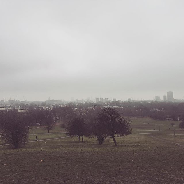 Foggy holiday runs to Primrose Hill. Peak London #fog #london #holiday #fitness