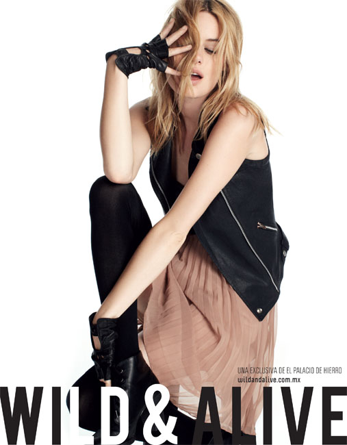 More of my blondes! Wild & Alive fall 2012 campaign for Mexican retailer El Palacio de Hierro. Featuring models Camille Rowe (Marilyn NY)