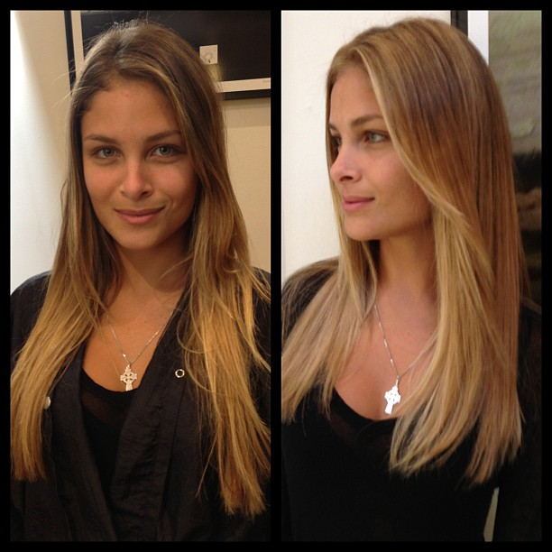 No more ombré color for #model Bruna Lucia from #fordmodels