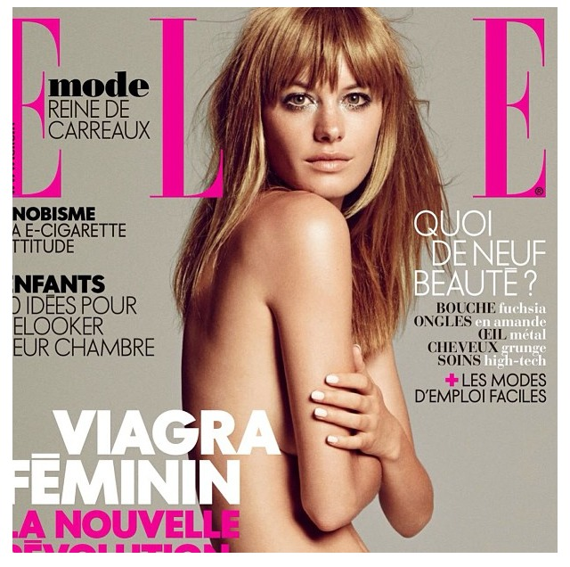 Another great French Elle cover for my Client Camille Rowe!