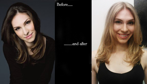 Took actress Kristen Abate from her natural Brunette to Blonde for an upcoming film! Such a sweetheart!