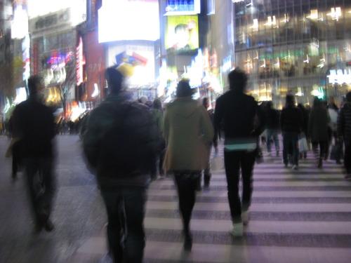 1. Human traffic at Shibuya crossing