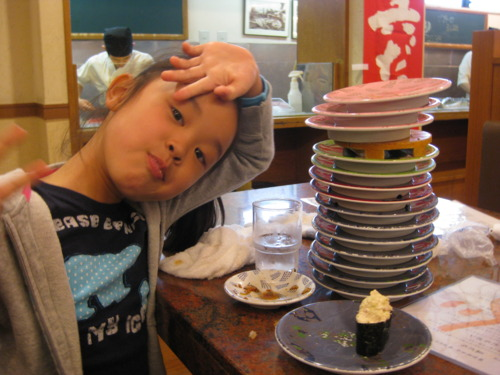 4. The amount of sushi that this small child can consume