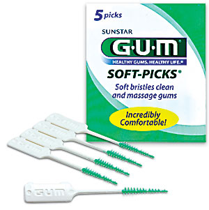 GUM Soft Picks are great alternatives to traditional floss.