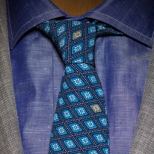 2d0e2fcb1 A silk foulard in a discreet geometric print is the classic tie to wear  with a solid or striped business suit and striped dress shirt.