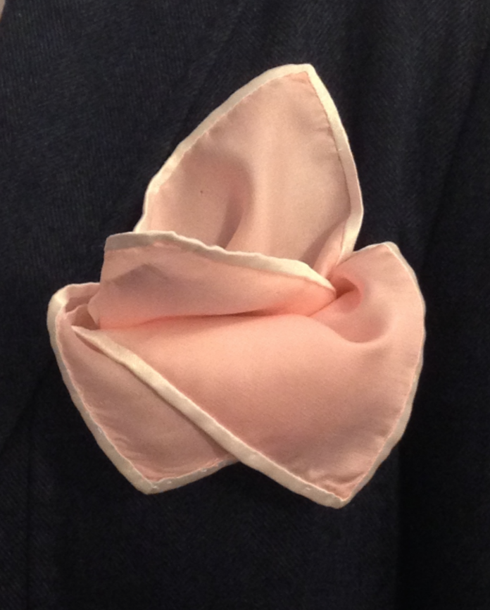 Pink Rose Pattern Pocket Square