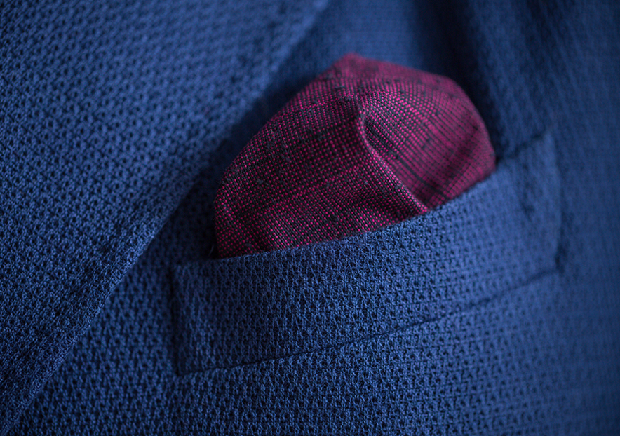 Wine Ajiro Pocket Square