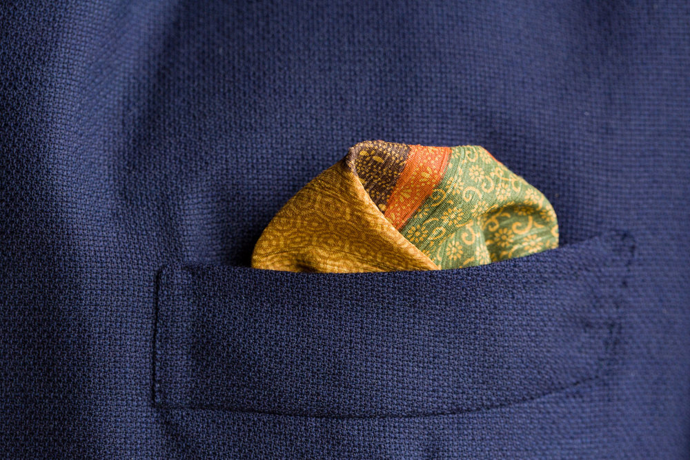 Olive, Green and Gold Pocket Square