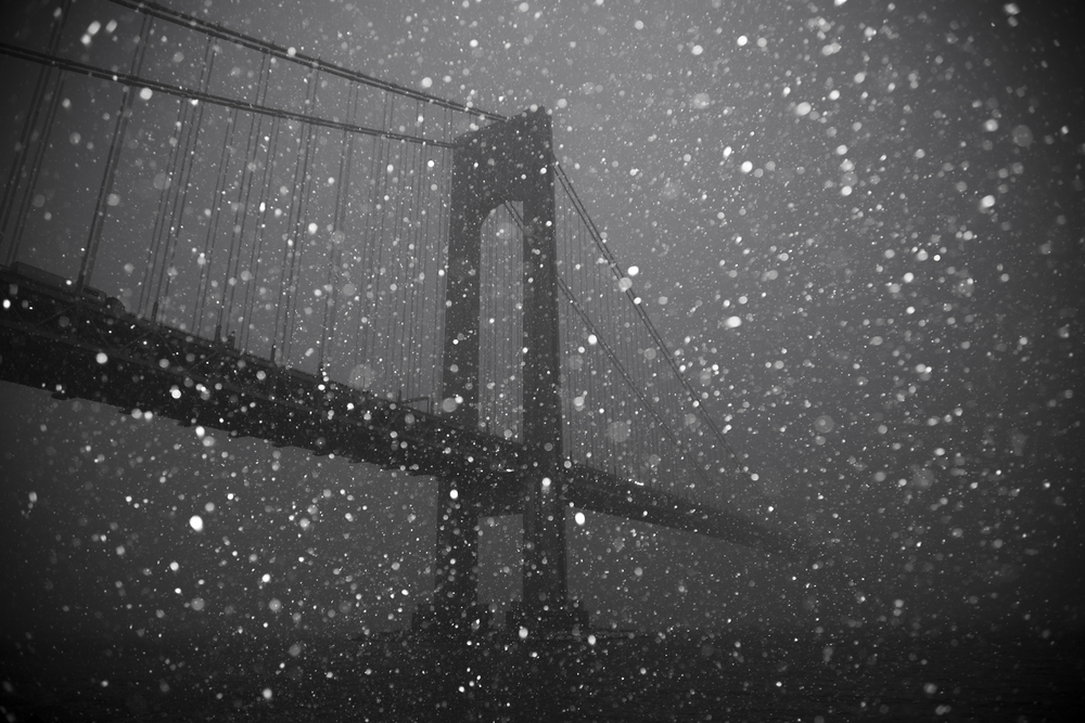 Verrazano Bridge Black and White in the snow.jp.jpg